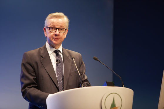 Michael Gove spoke at the Oxford Farming Conference