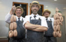 Steven Reynolds, Gilbert Mactaggart and Mick Anderson from House of Bruar butchery