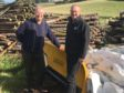 Jonny Tepp with Bruce Hamilton, from Tayforth Machinery