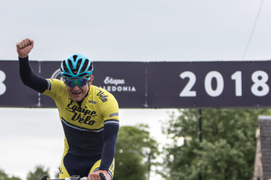 Jez Honor finished fastest and was first across the finish line in Etape Caledonia 2018.