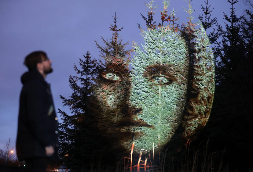 Steven McConnachie views a projection of Libra onto trees.