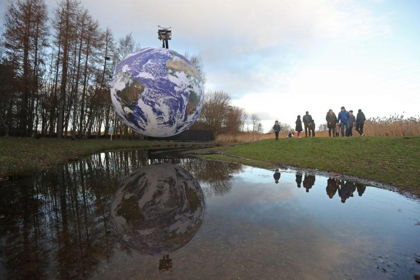 Gaia, a seven-metre scale model of Earth.