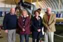 From left, MASHC chairman Ron Morris,  Maggie Appleton, chief executive at the RAF Museum Hendon and Claire Carr, assistant curator at RAF Museum Cosford, and Alan Doe. Picture: Neil Werninck