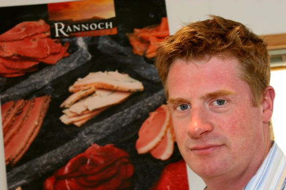Richard Barclay at the Rannoch Smokery, pictured in 2006.