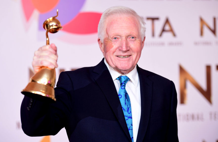 David Dimbleby with the Special Recognition award.