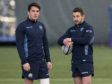 Scotland's new cap Sam Johnson with captain Greig Laidlaw (right).