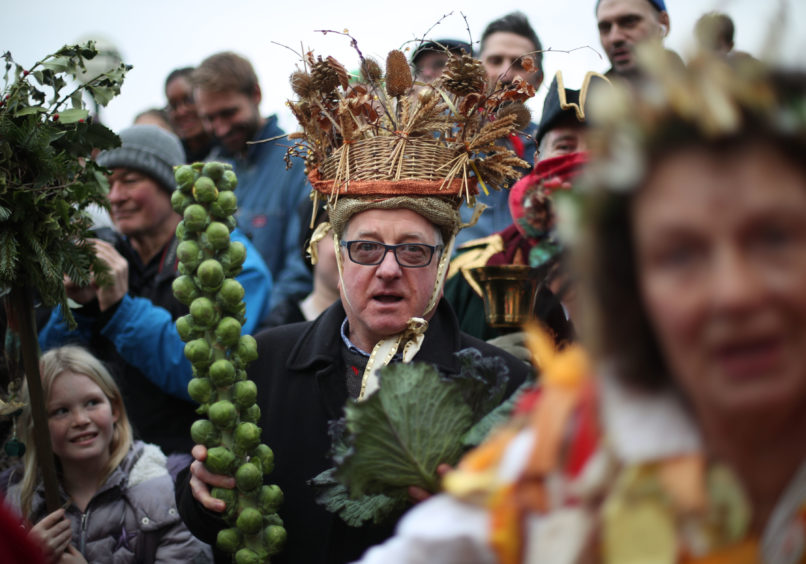 A King and Queen for the day are chosen from the public, on the Bankside, during the annual Twelfth Night celebrations.