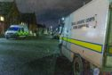Bomb disposal personnel and police at the incident in Balfour Street, Kirkcaldy.