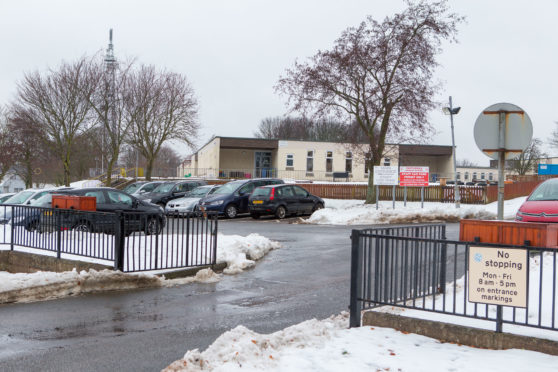 """Castlehill Primary School in Cupar after the """"beast from the east"""" hit last year."""