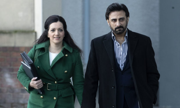 Tasmina Ahmed-Sheikh (left) and her husband Zulfikar Sheikh