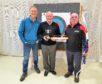 Linburn Centre Officer and Archery Instructor, Tim Searles, Bill Stevens and Jocky Elliott.