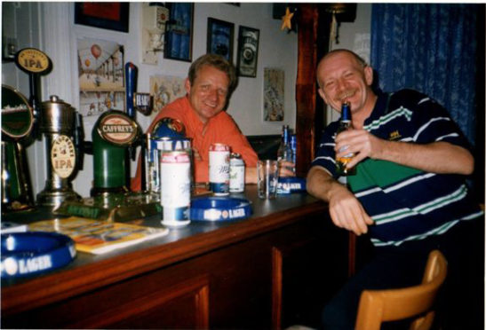 Tony English, right, died in 2011