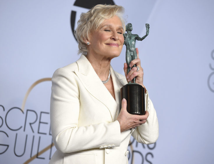 Winner of the award for Outstanding Performance by a Female Actor in a Leading Role was Glenn Close, for her role in The Wife.