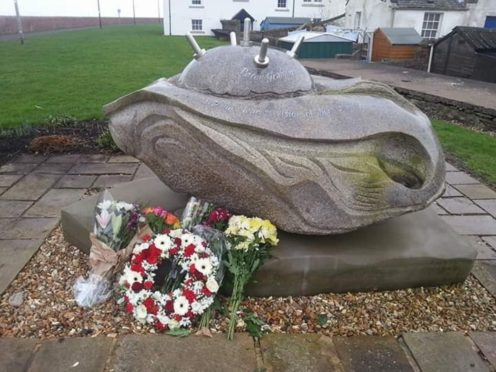The stone memorial pays tribute to the five lads who lost their lives in 1941 trying to protect the coast.