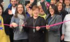 Debbie Matthew, who had a stroke in 2016 aged just 40, cut the ribbon and officially opened the new Chest Heart & Stroke Scotland (CHSS) boutique store at 173 High Street