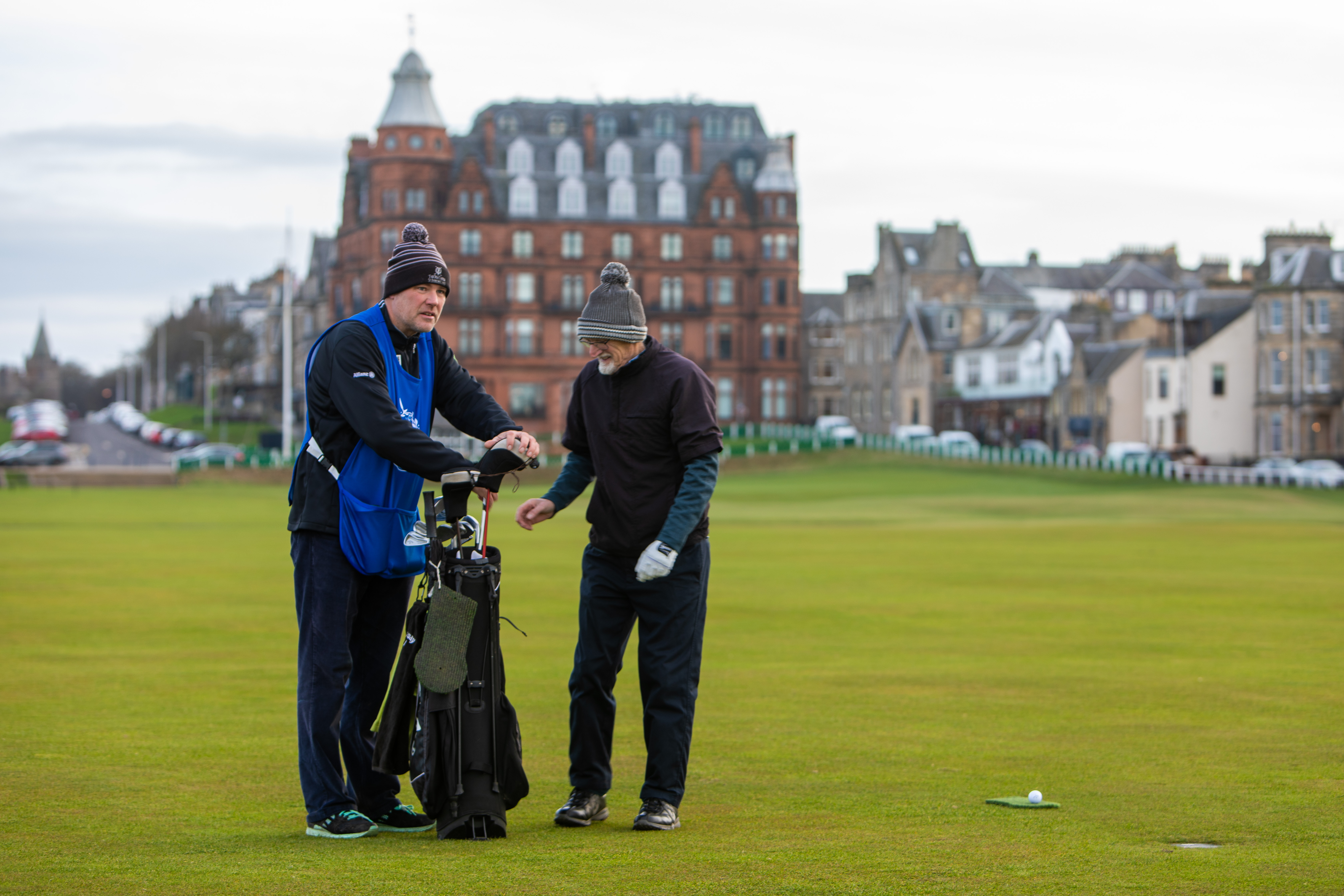 Getting into the swing of golf with St Andrews caddies - The