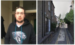 Graham Menzies who disturbed a raider who had broken into his flat on Westfield Place in Dundee on Tuesday January 22.