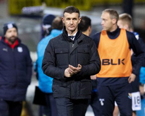 Jim McIntyre at full-time on Saturday.