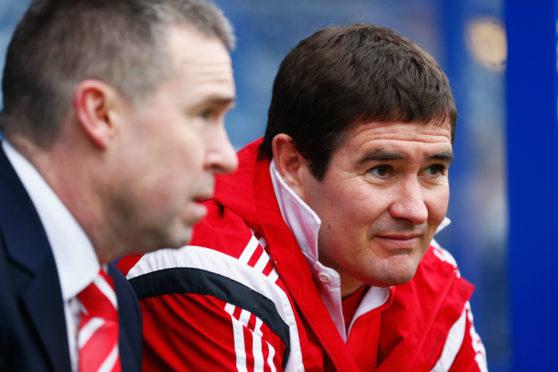 Malachy Brannigan with Nigel Clough at Sheffield United.