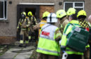 The flat fire on Ballindean Road, near the junction to Balerno Street.