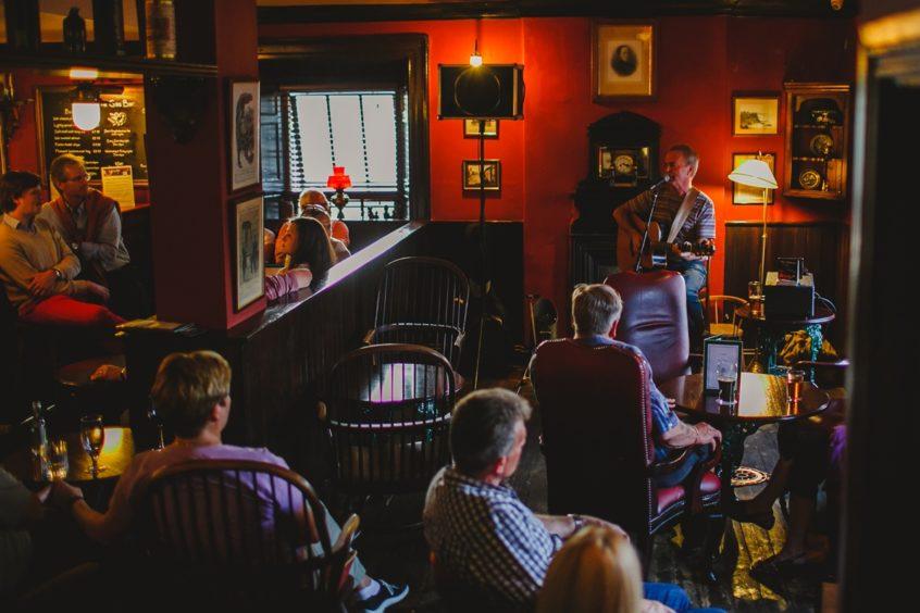 The Bushmills Inn's lively bar.