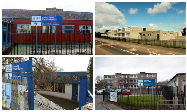 Frances Wright Pre-School, and St Luke's and St Matthew's, Longhaugh and Rosebank schools.