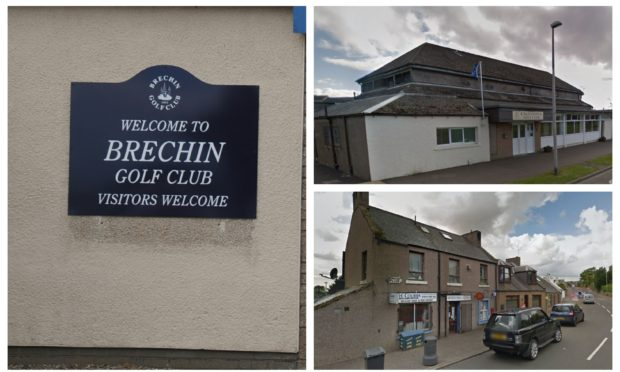 Brechin Golf Club. Caledonian Golf Club in Montrose and Hillside Post Office.
