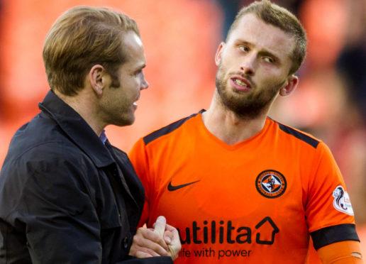 Robbie Neilson with Pavol Safranko.