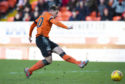 Dundee United's Peter Pawlett puts his side 2-0 ahead.