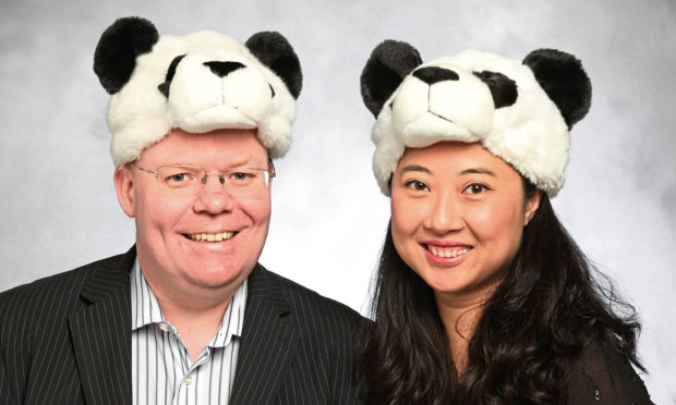 Chris Forbes and wife Julie Chen of Cheeky Panda