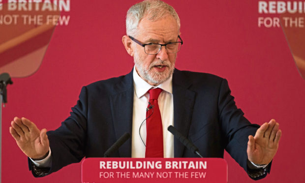 Labour leader Jeremy Corbyn during a speech at a Labour local government conference at The Slate, Warwick.