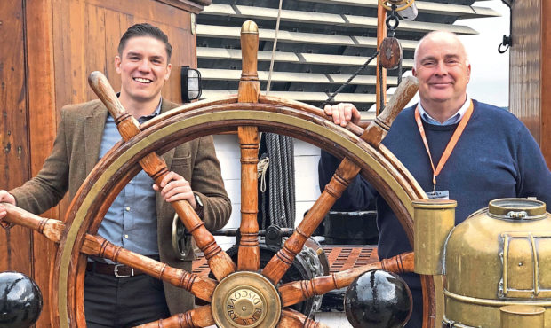 Zudu Managing Director James Buchan and Mark Munsie, Operations Director for Dundee Heritage Trust