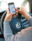 Undated stock image to illustrate drivers using mobile phones behind the wheel. See PA Feature MOTORING News. Picture credit should read: PA. WARNING: This picture must only be used to accompany PA Feature MOTORING  News.