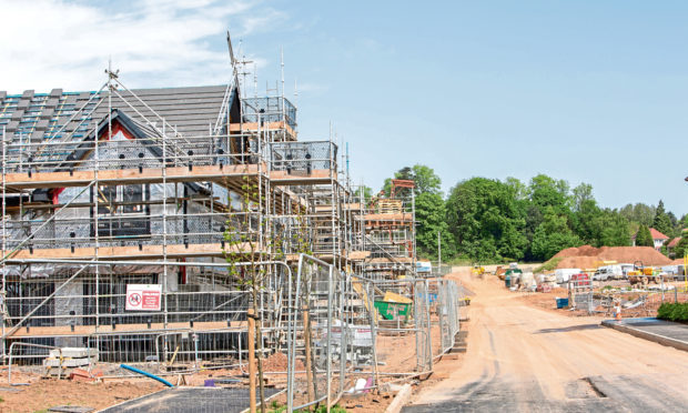 Construction under way at Springfield Properties Dykes of Gray development in Dundee.