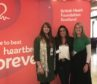 Fundraising manager for BHF Scotland Lisa Robertson, Dunfermline group lead Aimee Ellis and Gaynor Williamson.