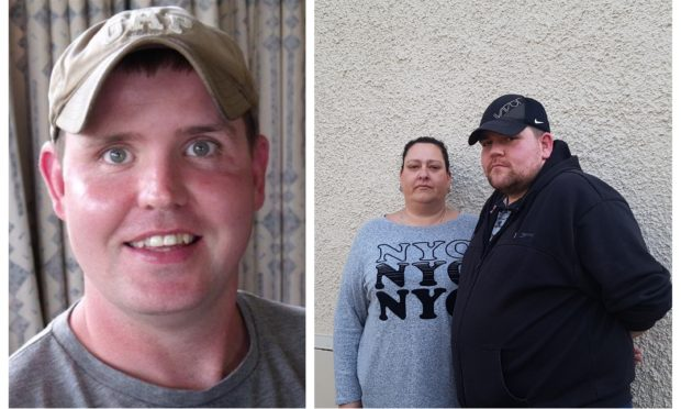 Alan Clarkson (left) and (right) victims Michelle and Christopher Szombara.