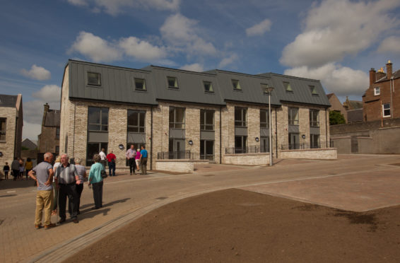 New housing on the site of Forfar's former Chapelpark primary school was completed by the council last year