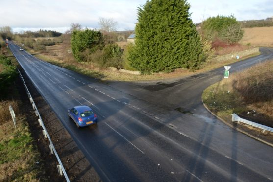 The site of the crash at the A911 Glenrothes to Leven road last month.