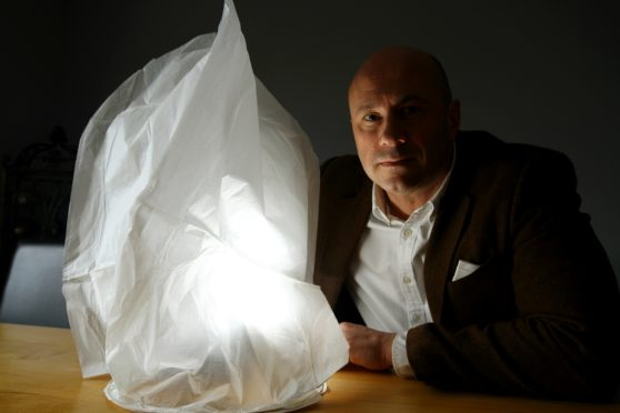 Derek Wann is warning about the dangers posed by Chinese lanterns.