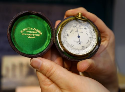 Sir Hugh Munro's barometer is part of an exhibition at Kirriemuir's Gateway to the Glens museum