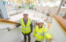 Ed and Judy see the improvement work at the Levenmouth centre