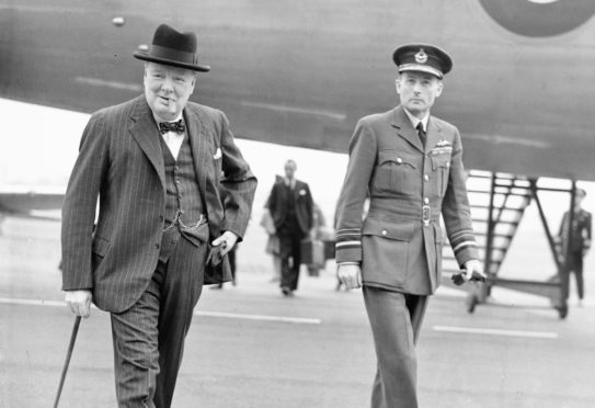 Winston Churchill with Fife-born war hero Sir Ralph