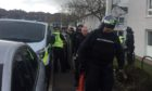 The police incident in Restenneth Drive, Forfar.