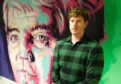 Michael Corr and his portrait of Jim Adamson