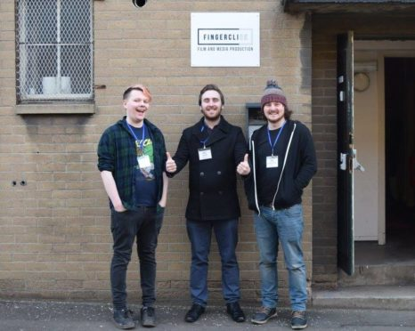 Lewis Bage, Joel Hewett,and Daniel Taylor of Fingerclick Productions