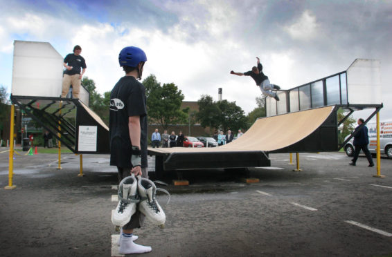 The mobile half-pipe was unveiled in 2005.