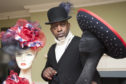 Priestley West with some of his bespoke creations which will be showcased at Glamis Castle.