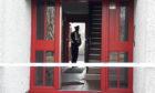 Police investigating in Delgatie Avenue, Glenrothes.