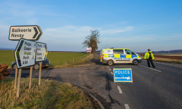 The scene of the crash on the A94.