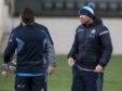 Scotland assistant coach Matt Taylor (right)